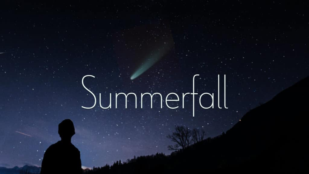 Summerfall, last light of the comet Neowise