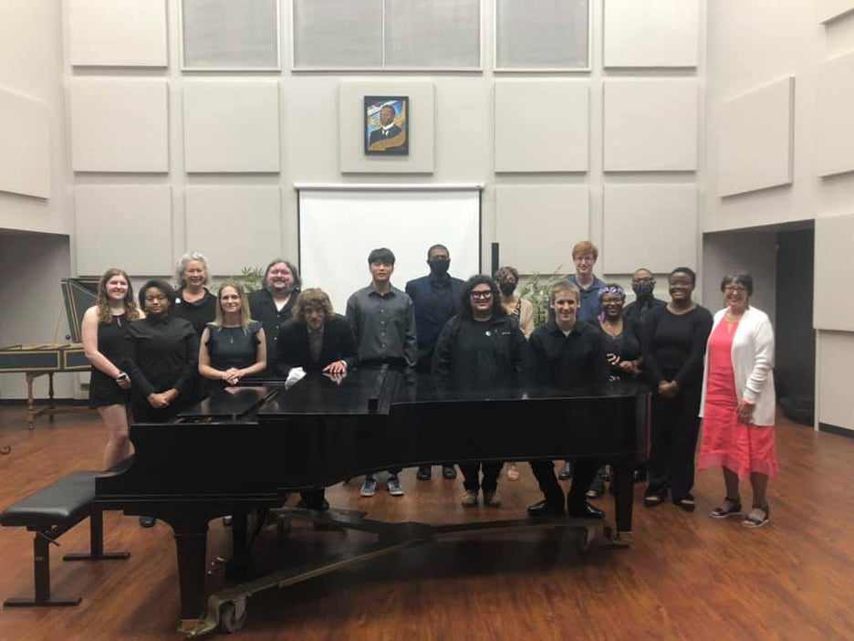 group photo of students in recital